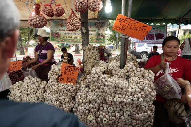 Garlic for sale at a market in Bang Khen.PATIPAT JANTHONG