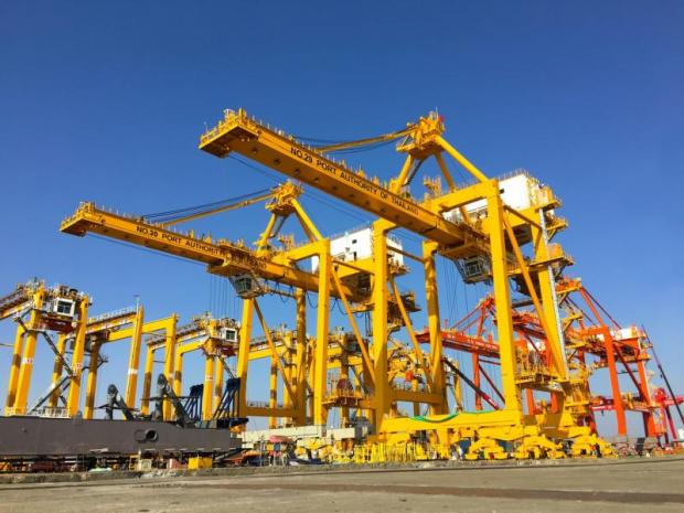 Bangkok Port added new giant cranes earlier this year to support growing exports.