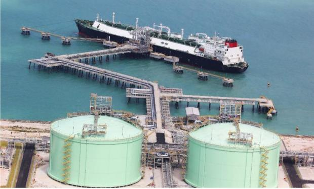 PTT's LNG terminal at Map Ta Phut Industrial Estate in Rayong province.