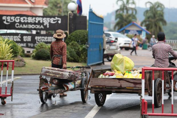 The Thai-Cambodian border crossing in Surin province. From Chong Chom subdistrict, the border point crosses into O Smach in Cambodia. Wichan Charoenkiatpakul