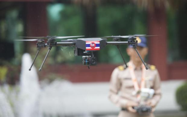 A drone is tested by the Royal Thai Navy. Pawat Laopaisarntaksin