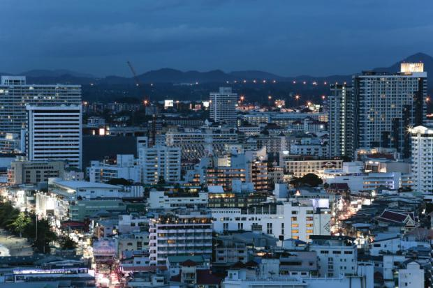 Residential and commercial areas in Pattaya City. The draft bill on land and buildings tax includes new appraisal standards.