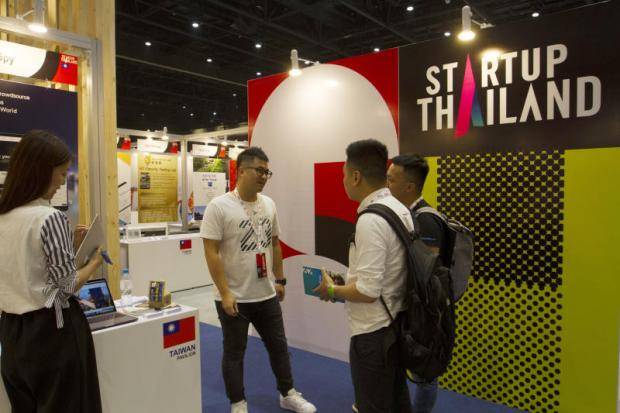Visitors browse the options at the Startup Thailand 2018 held in Bangkok.PAWAT LAOPAISARNTAKSIN