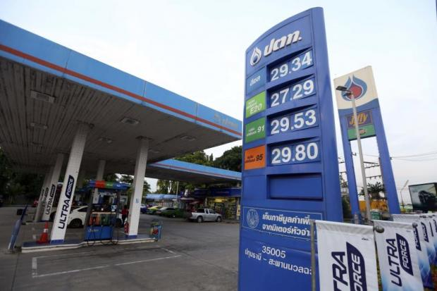 A PTT gasoline station in Bangkok. The state-owned conglomerate's acquisition of Glow, an electricity producer, brings into question the effect of checks and balances. Bangkok Post photo