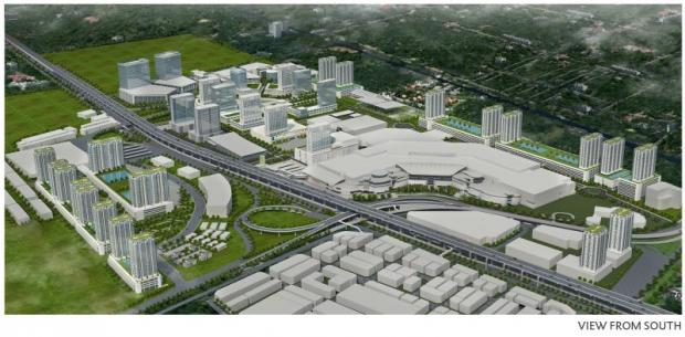 A digital rendition of Rangsit Plaza's Future City, on 350 rai of land.