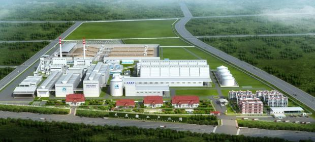 A digital rendition of Mitr Phol's factory in Chongzuo Industrial Park.