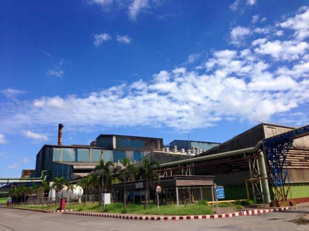 The electric arc furnace at Siam Construction Steel Co in Map Ta Phut Industrial Estate in Rayong.