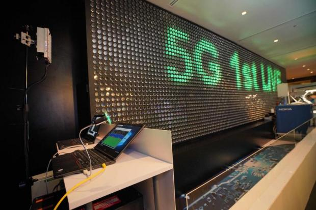AIS began 5G demonstration testing on Thursday at Emporium, working with telecom gear maker Nokia.