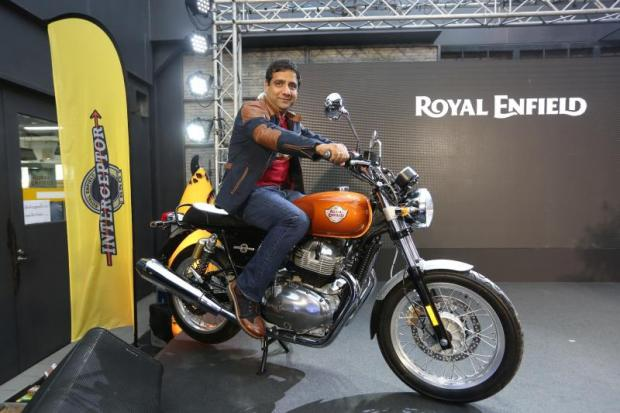 Mr Sumbly, on the Indian-made Interceptor INT 650, says Royal Enfield is looking into the feasibility of expanding its first production facility outside India.
