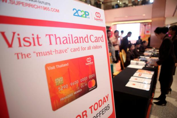 The Visit Thailand card aims to support the Thailand 4.0 policy.(Photo by Apichart Jinakul)