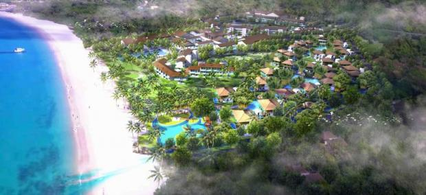 An artist's rendition of Club Med Krabi Resort & The Residences, a hotel and residence project on a 100-rai site of Krabi's Long Beach.