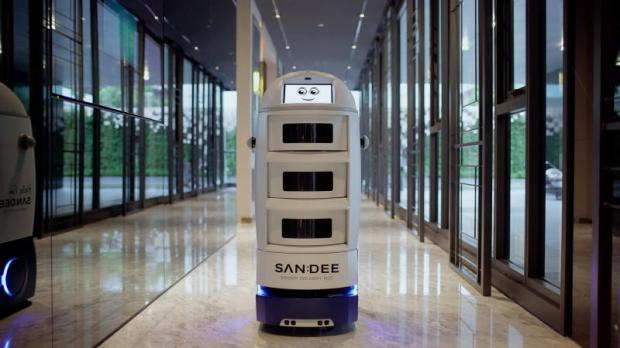 The Sandee robot is expected to provide more services than parcel delivery.