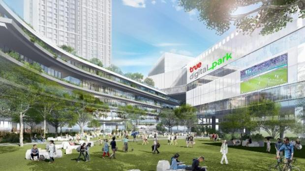 True Digital Park is located on Sukhumvit Road, adjacent to the Punnawithi skytrain station. True will develop 41,000 square metres to be the digital business hub.