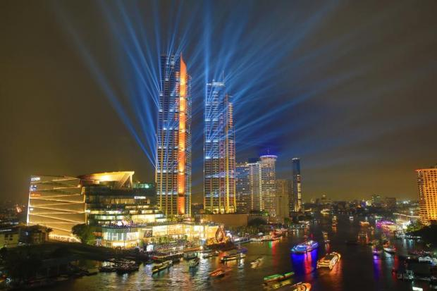 Lights and sounds at the opening of Iconsiam last month.PHRAKRIT JUNTAWONG