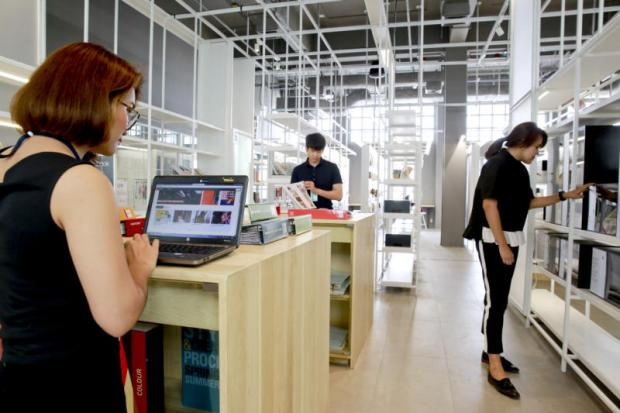 Thailand Creative and Design Center's learning and innovation space. The Industry Ministry plans to establish the first innovation centre in Southeast Asia next year in Rayong, as part of the EEC project. Taweechai Tawatpakorn