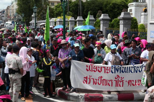 Poor forest dwellers protest last May in Bangkok for the right to stay in state forests. Thais have increasingly asked the government to improve land ownership, as 80% of the land belongs to just 20% of the population.