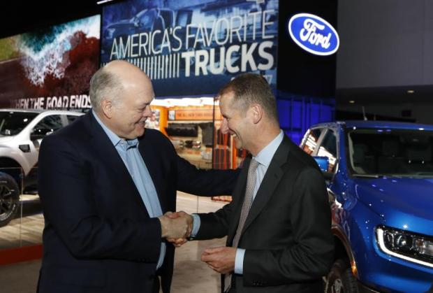 VW and Ford team up on commercial vans, pickups