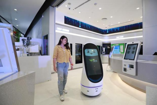AIS DigitALL, the country's first unmanned store, uses 'Lisa' to provide customer service at Central Floresta Phuket.