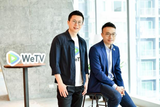 Mr Li (left) and Mr Krittee say Tencent will boost investment in cloud and AI services in Thailand.