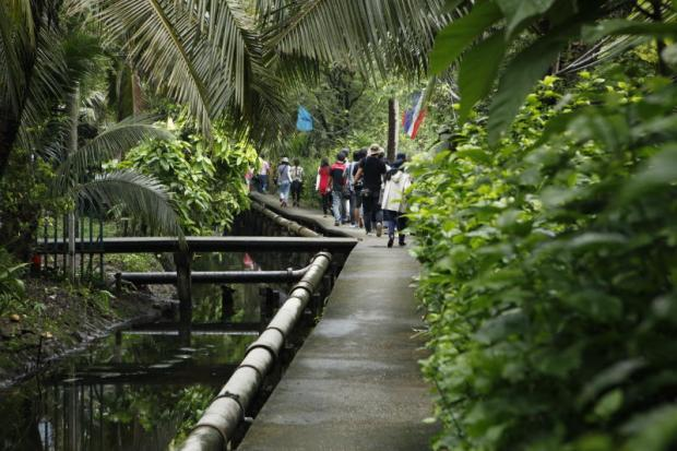 Bang Kachao, the 'lung' that breathes oxygen for Bangkok, often welcomes visitors, including youngsters taking a boat tour as well as people in the neighbourhood. Conservation efforts are intensifying to keep the vast green area the way it is.