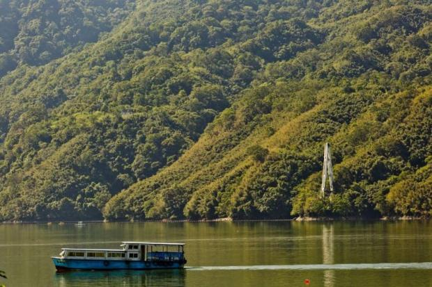 Shihmen reservoir in Taiwan saw 107,316 tourists arrive in January of this year.
