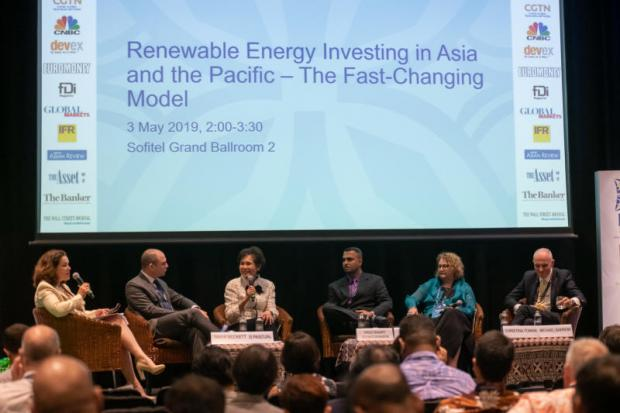 At ADB's annual seminar, Ms Preeyanart discussed the evolving approaches to renewable energy projects in developing countries.