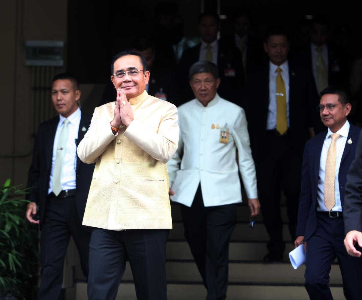 Incumbent Prime Minister Prayut Cha-o-cha looks set to make a comeback, leading a coalition that may hardly function. Pawat Laupaisarntaksin