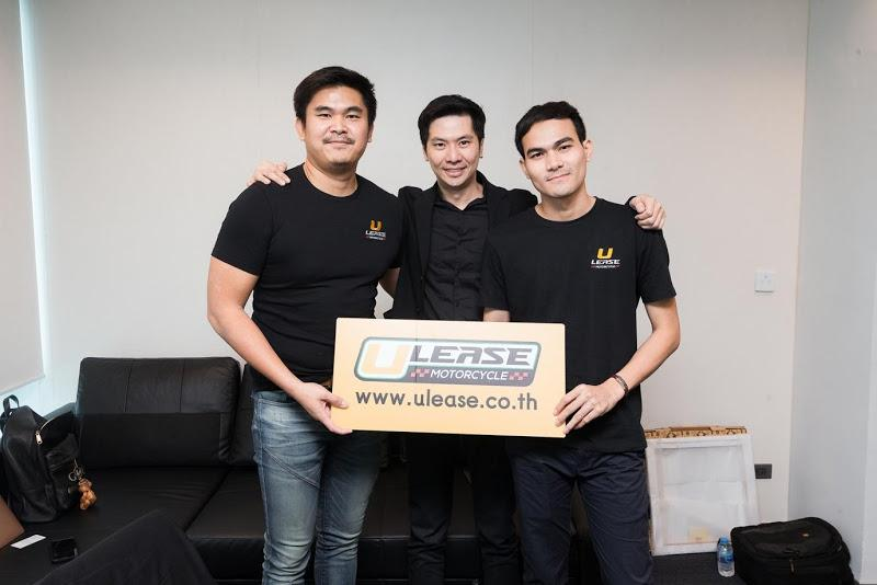 From leftChief technology officer and co-founder Sakol Artpan, Mr Pawoot and Mr Shane.
