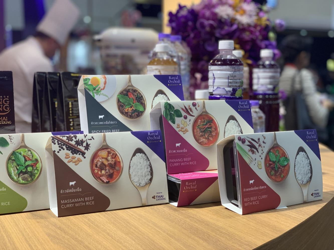 THAI Catering showcases new prepared meals under the Royal Orchid Gourmet brand at Thaifex-World of Food Asia.