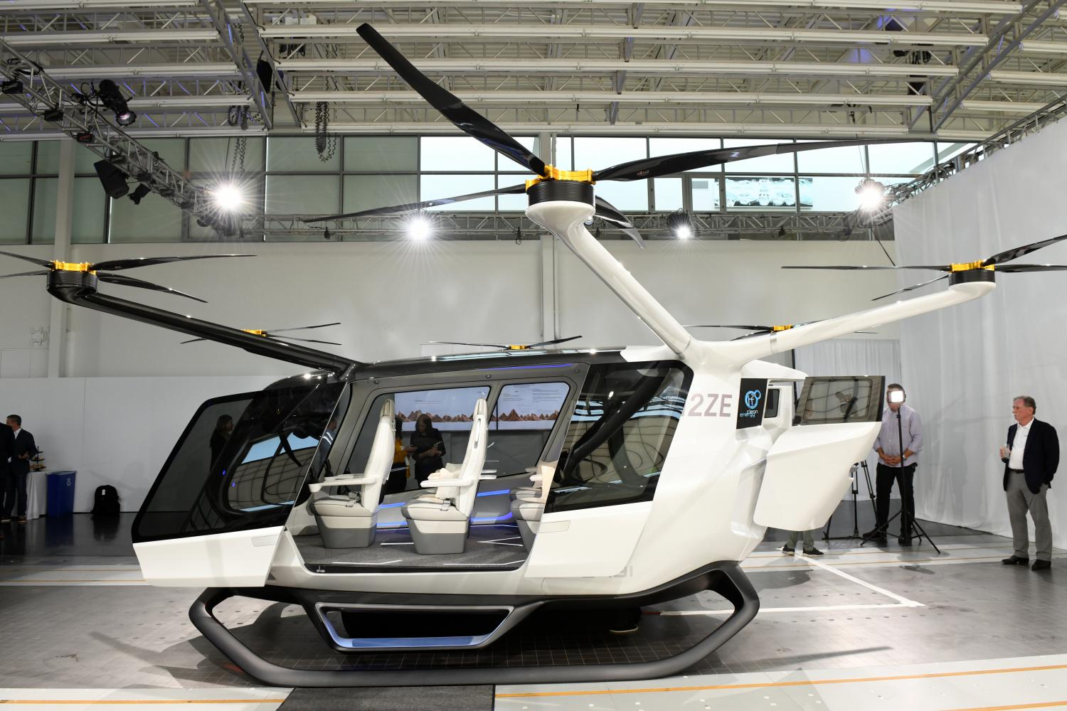 A passenger model of Skai is unveiled at the BMW Designworks offices in Newbury Park, California on Wednesday. (Reuters photo)