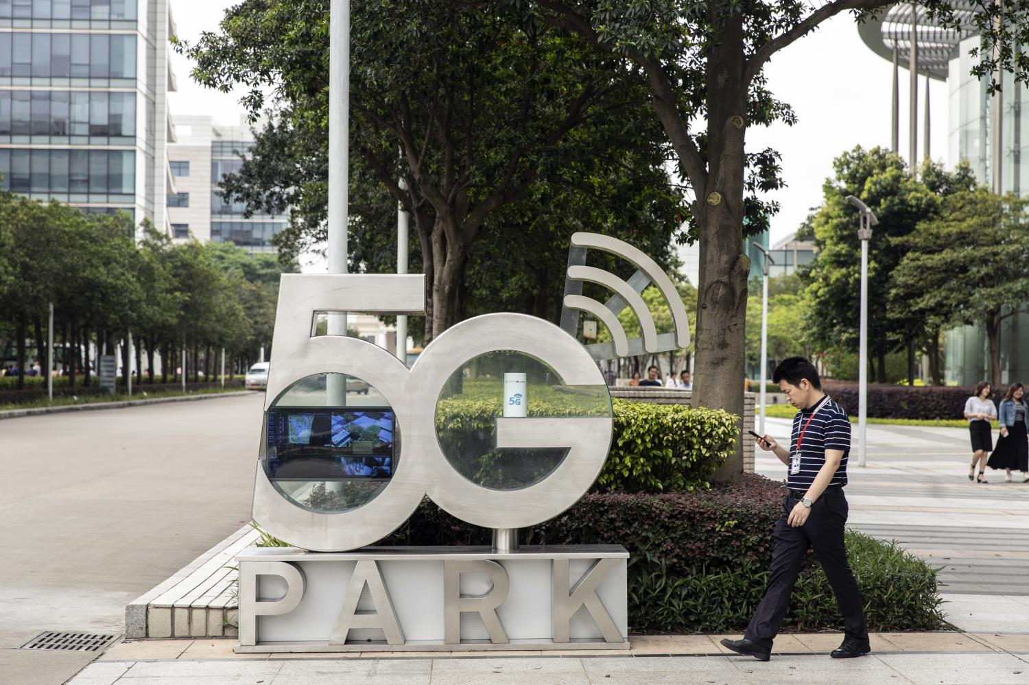 Huawei's 5G Park in Shenzhen. Huawei agreed to work with the NBTC and Chulalongkorn University on a 5G test site.(Bloomberg photo)