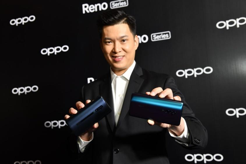 Mr Chanon, here with the new Reno series, says branding is crucial for premium smartphones.