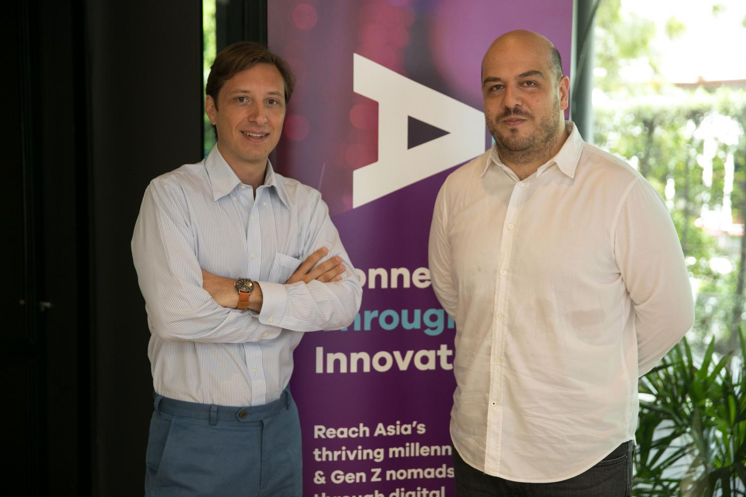 Mr Meana (left) and Mr Piscini believe Crea can help brands market to youth online.