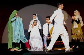 Life as Afghan refugees, depicted on Malay stage