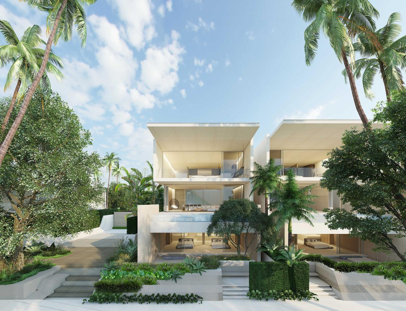 An artist's rendition of some of the beachfront villas at Veyla Natai Residences in Phangnga, priced at 67-89 million baht a unit.