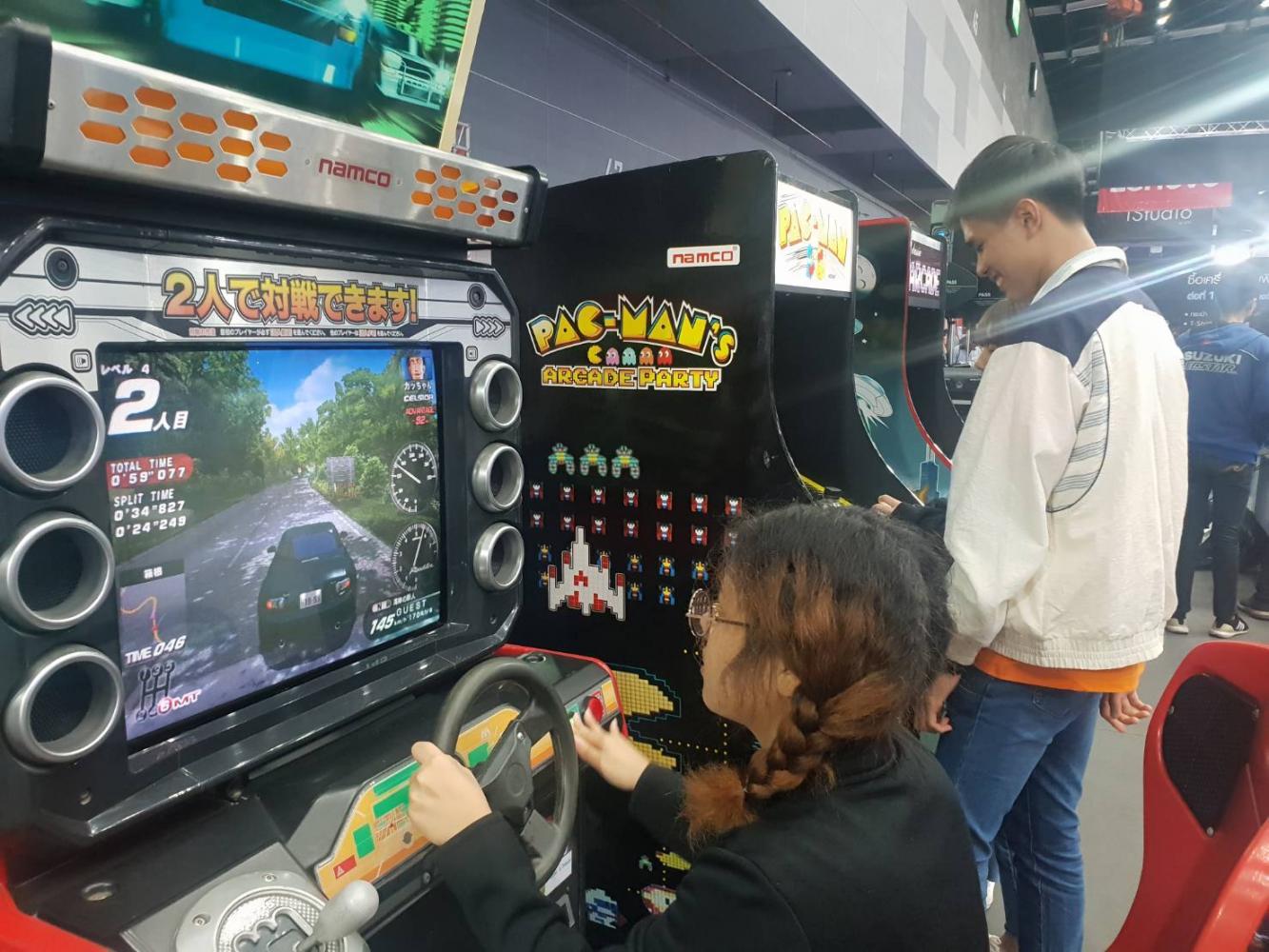 Retro games at Commart Thailand 2019.