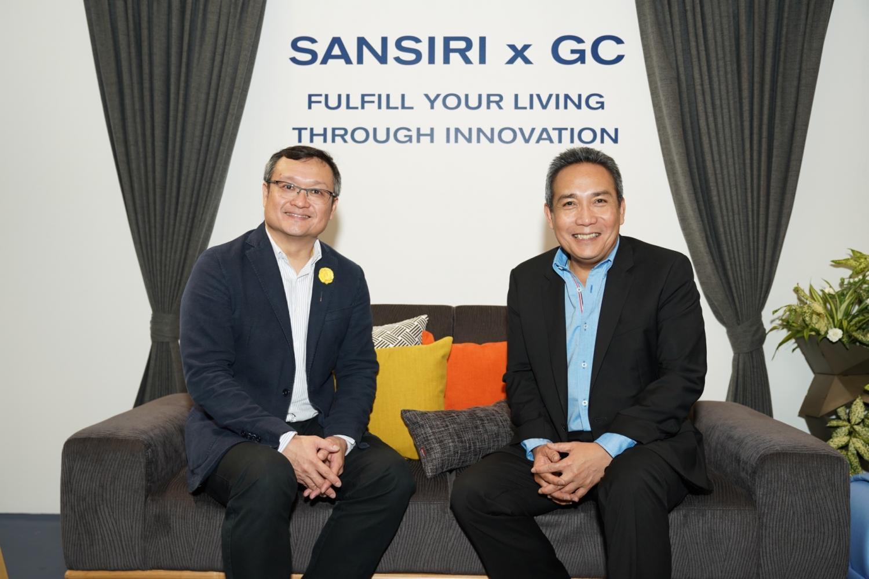Mr Uthai (left) and PTTGC's Patiparn Sukorndhaman announce their partnership.