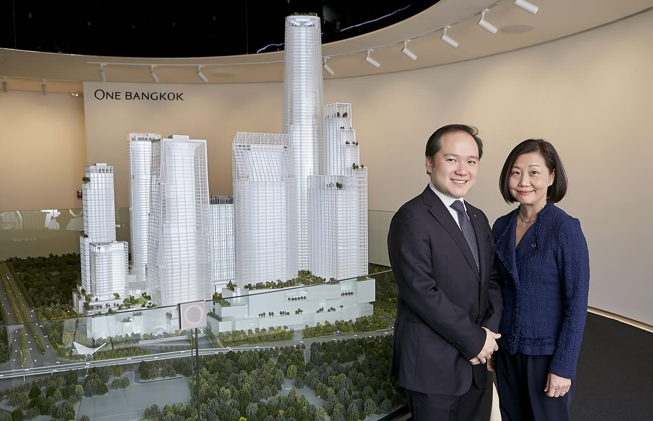 Panote Sirivadhanabhakdi, group CEO of Frasers Property, and Su Lin Soon, One Bangkok's chief executive, say the project will target different segments.