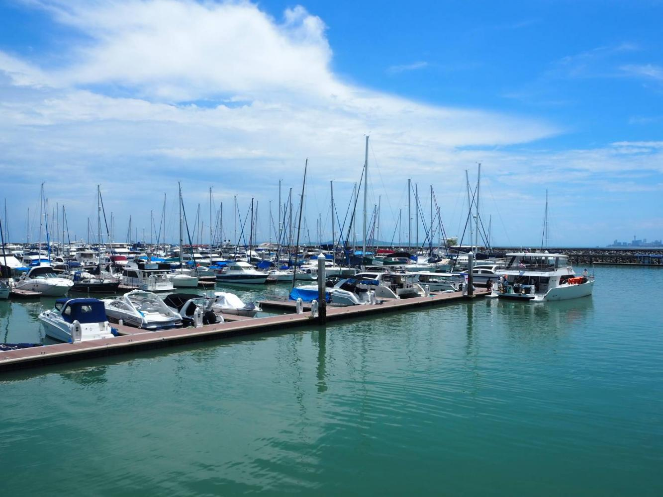 Ocean Marina Yacht Club Pattaya has capacity for 560 boats, including 450 in the water and 110 onshore. (Photo by Dusida Worrachaddejchat)