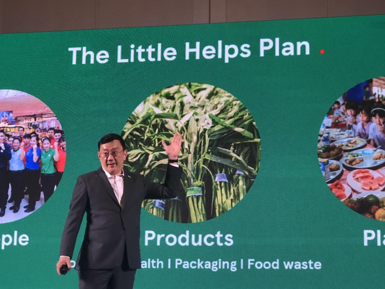 Mr Sompong says the sustainability scheme, known as 'The Little Helps Plan', applies to all Tesco businesses in Thailand. Pitsinee Jitpleecheep