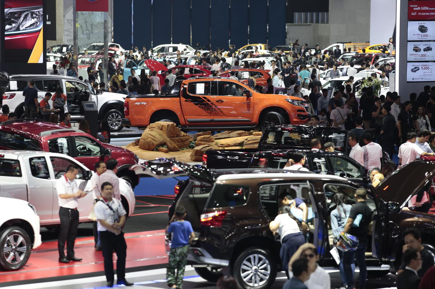 Thailand's car market saw declines in June and July, attributed to tighter auto loan measures.(Photo by Patipat Janthong)