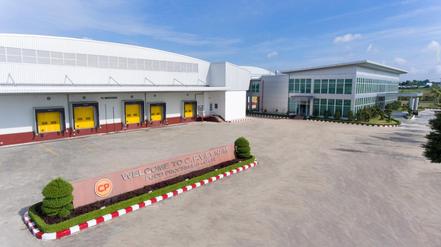 The food processing facility of CP Vietnam. The neighbouring country is a budding market for Thai food companies.