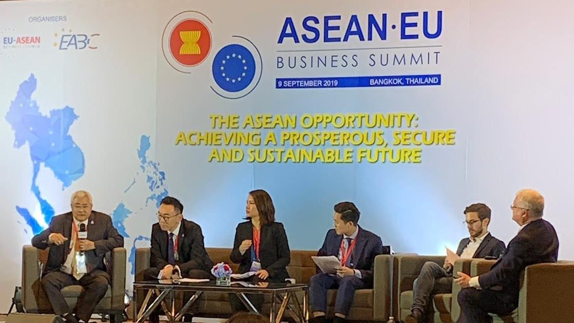Analysts from the EU and Asean public and private sectors discussed building a sustainable digital economy at the EU-Asean Business Summit.