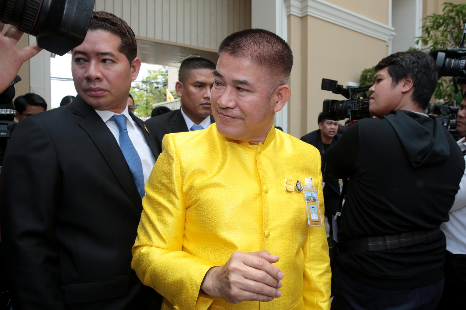 Deputy Agriculture and Cooperatives Minister, Thamanat Prompow, dismissed the 'Sydney Morning Herald' report which painted a vivid detail of his criminal past, saying he was 'in the wrong place at the wrong time'. CHANAT KATANYU