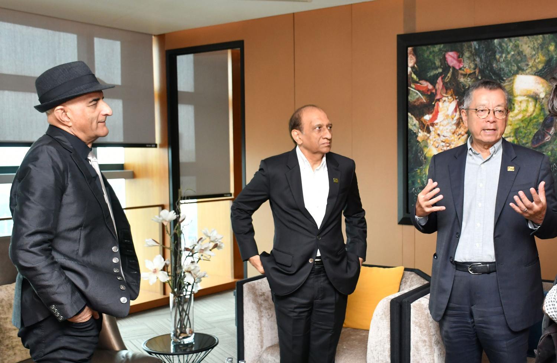 Mr Habibullah (left), Mr Anwar (centre) and Mr Woon discuss their partnership.