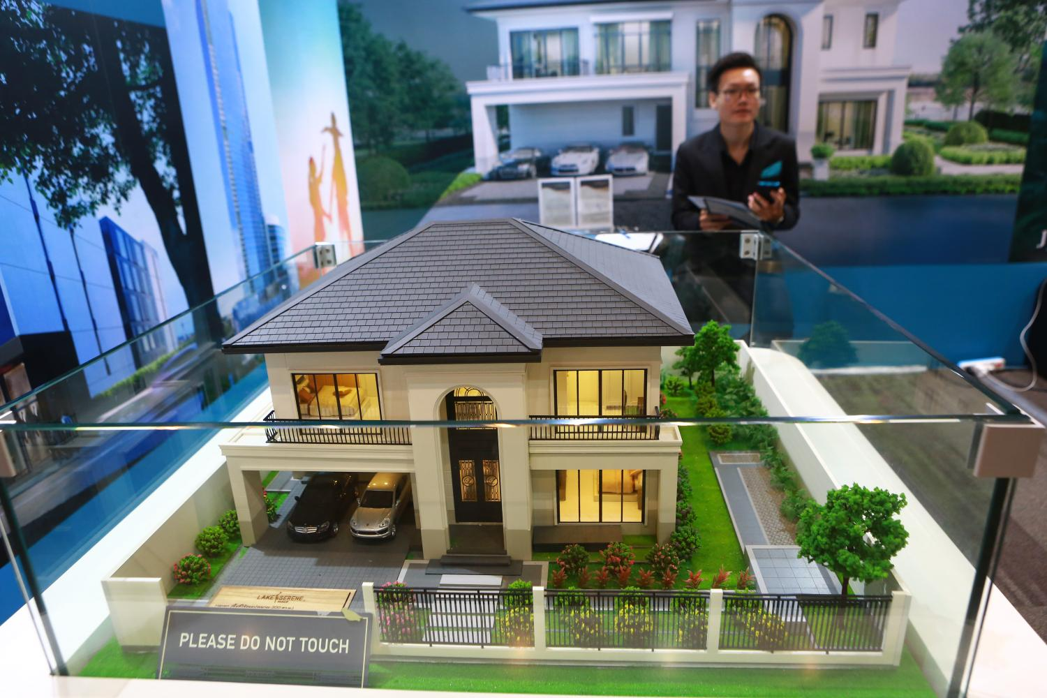 A residential unit model on display at the 41st House and Condo Fair in September.Somchai Poomlard
