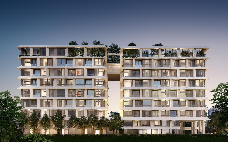 A digital rendition of Holme Ekkamai 22, an eight-storey condominium project with 90 units on Ekkamai Soi 22, set to launch on Nov 9.