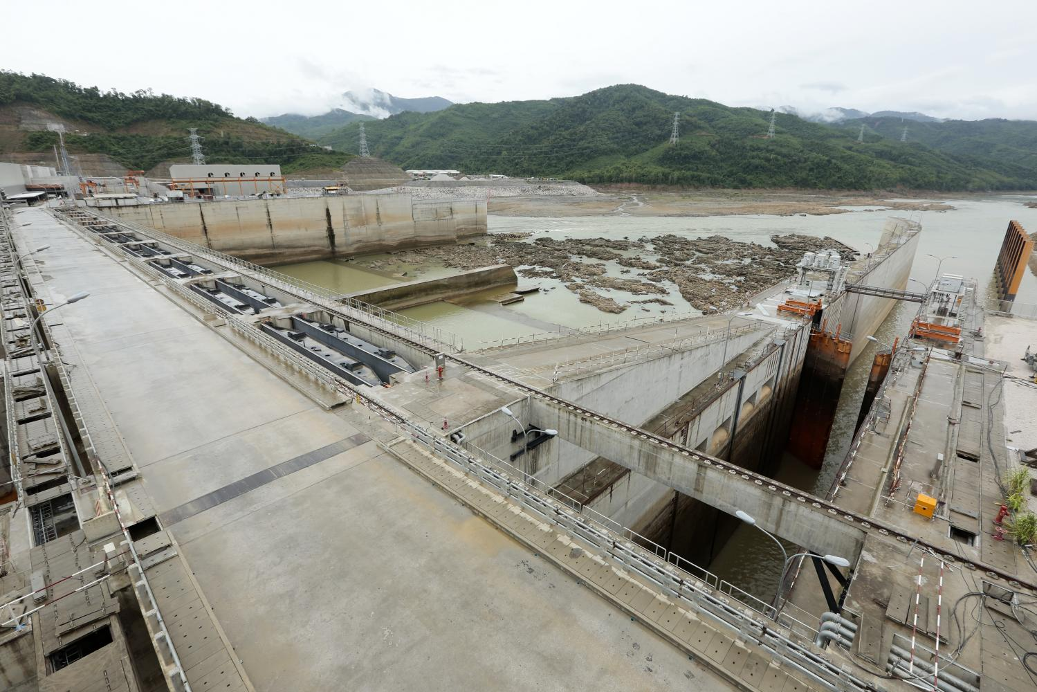 This picture taken in July shows the site of the Xayaburi hydropower project, the first to be built on the lower Mekong River, in Laos. (Photo by Patipat Janthong)
