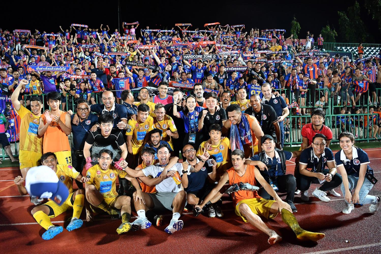 Port players celebrate after beating True Bangkok United on penalties in the semi-finals last month.