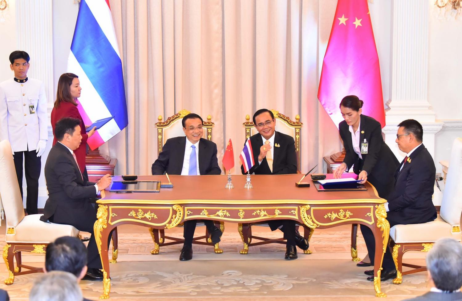 The leaders of SCG and the CAS signed an agreement on the CAS ICCB innovation hub. The signing was witnessed by Prime Minister Prayut Chan-o-cha and Chinese Premier Li Keqiang.